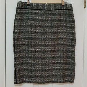 Liz Claiborne black and white skirt